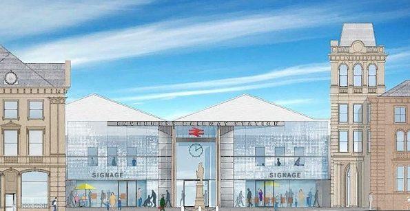 Artist impression of plans for Inverness rail station