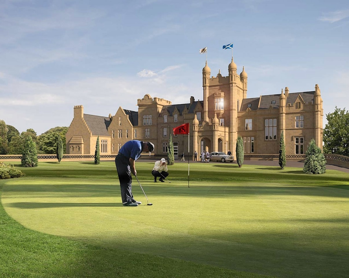 Artist impressions of planned Jack Nicklaus golf course at Ury, near Stonehaven.