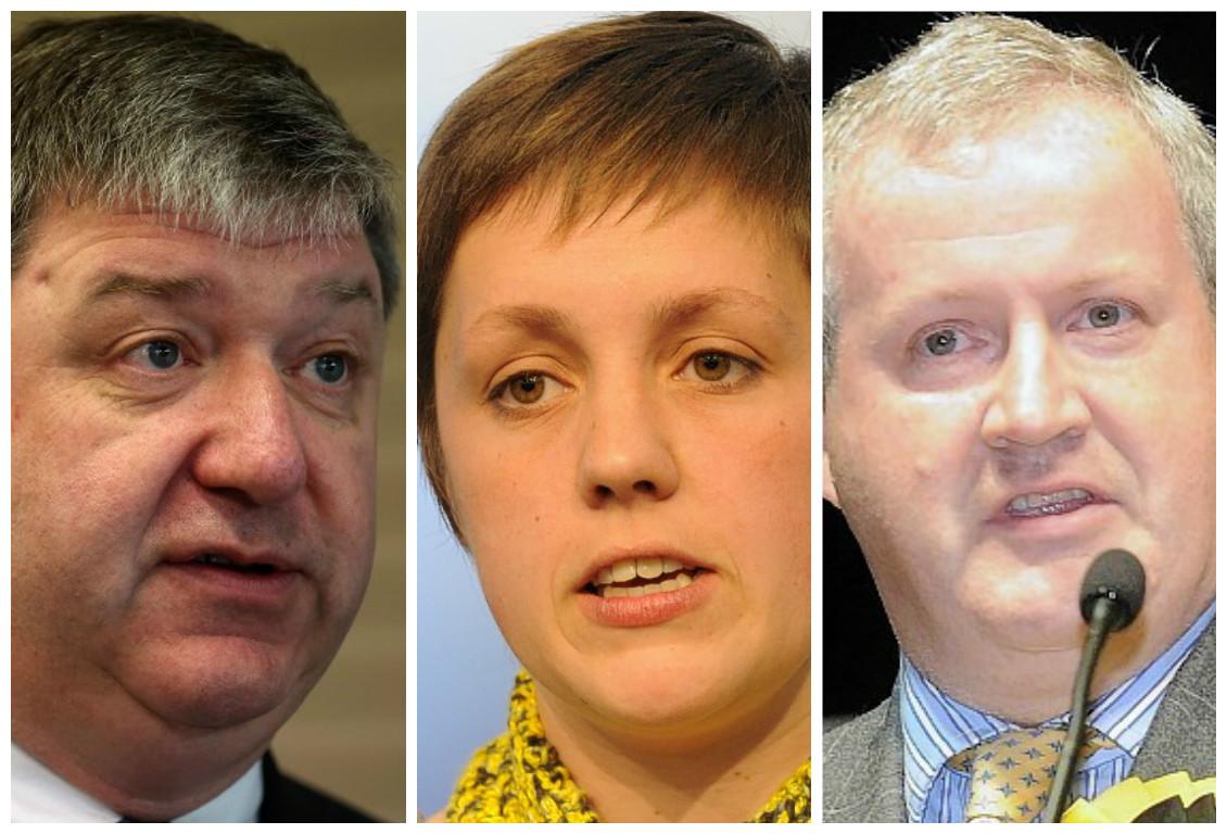 Alistair Carmichael, Kirsty Blackman and Ian Blackford