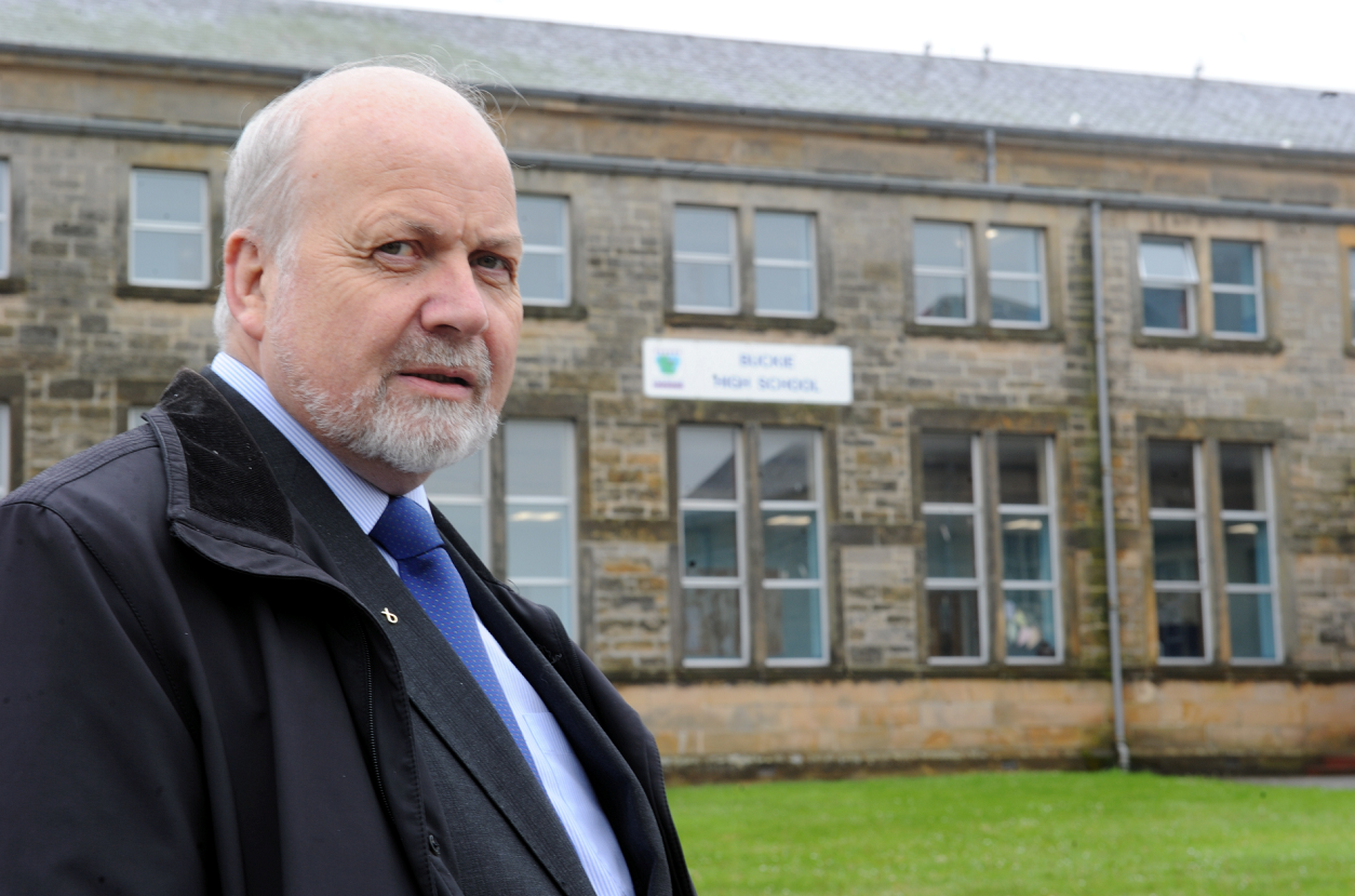 Councillor Gordon McDonald wants to know why schools in the rest of Scotland are in better condition than in Moray.