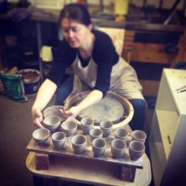 Martina MacLeod of Mudness Ceramics at work.