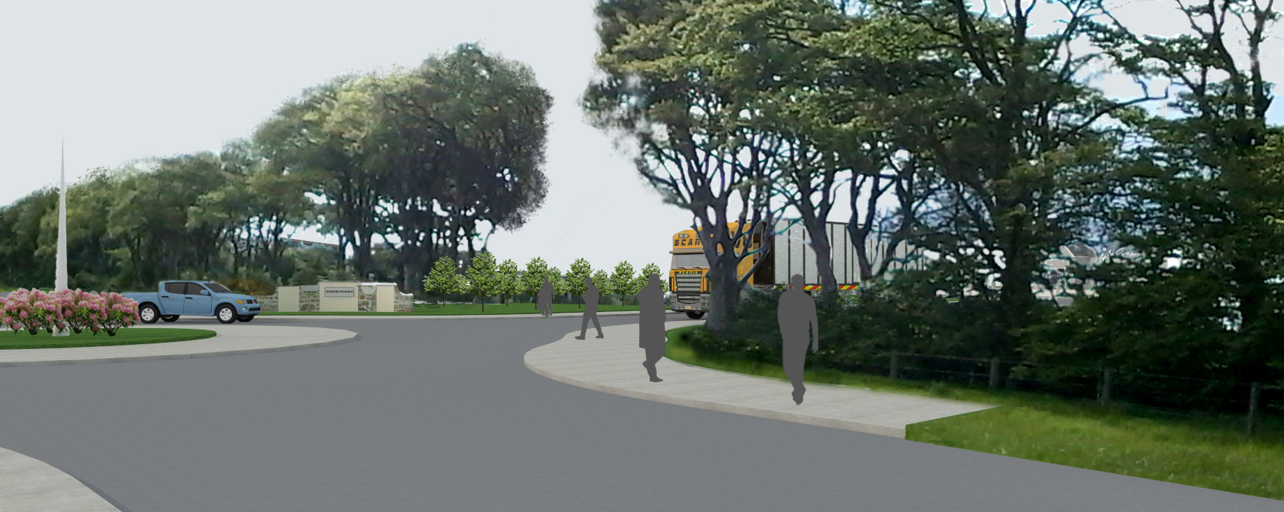 A visualisation of the North Woods business park