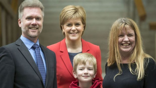 The Brain family met First Minister Nicola Sturgeon earlier this year as part of their campaign to stay in the UK