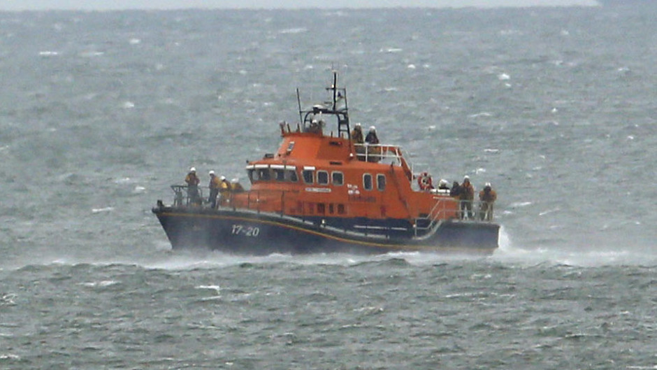 The Aith lifeboat was called out to the incident
