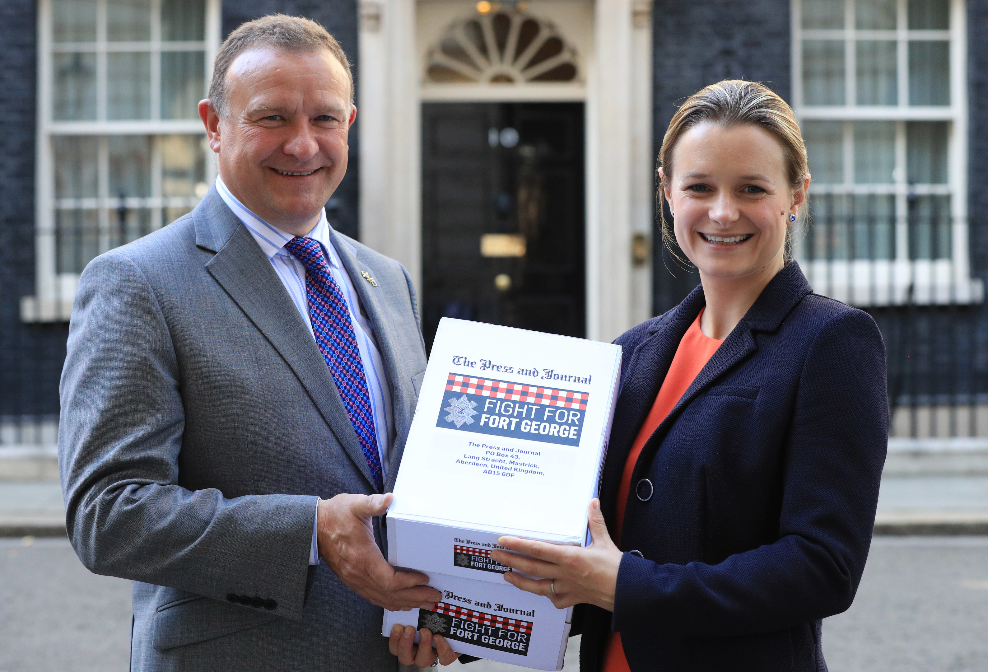 The Press and Journal's petition is handed into Downing Street