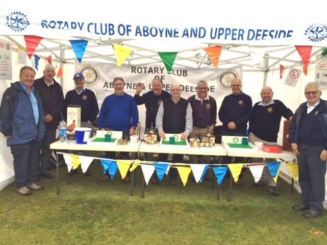 Aboyne and Upper Deeside Rotary Club at Ballater Games
