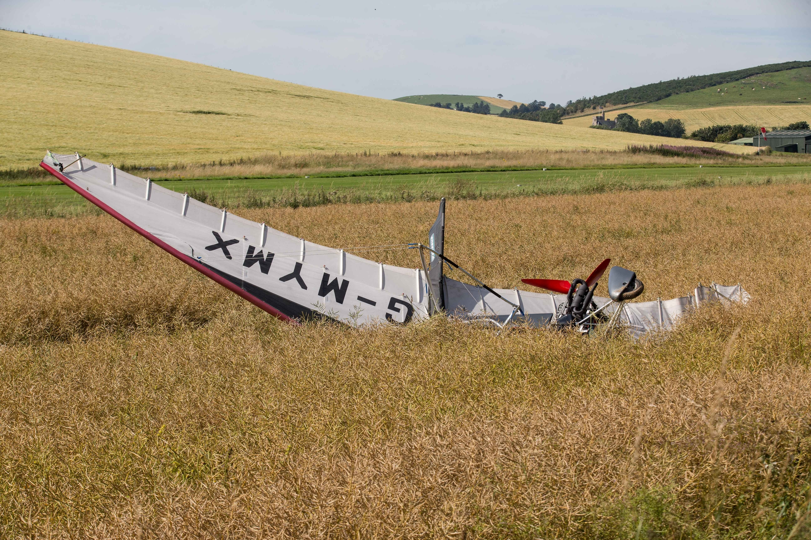 A man has been taken to hospital with potentially serious injuries after a microlight crash in Aberdeenshire.