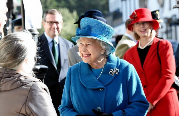 The Queen in Ballater yesterday. Credit: Kevin Emslie.
