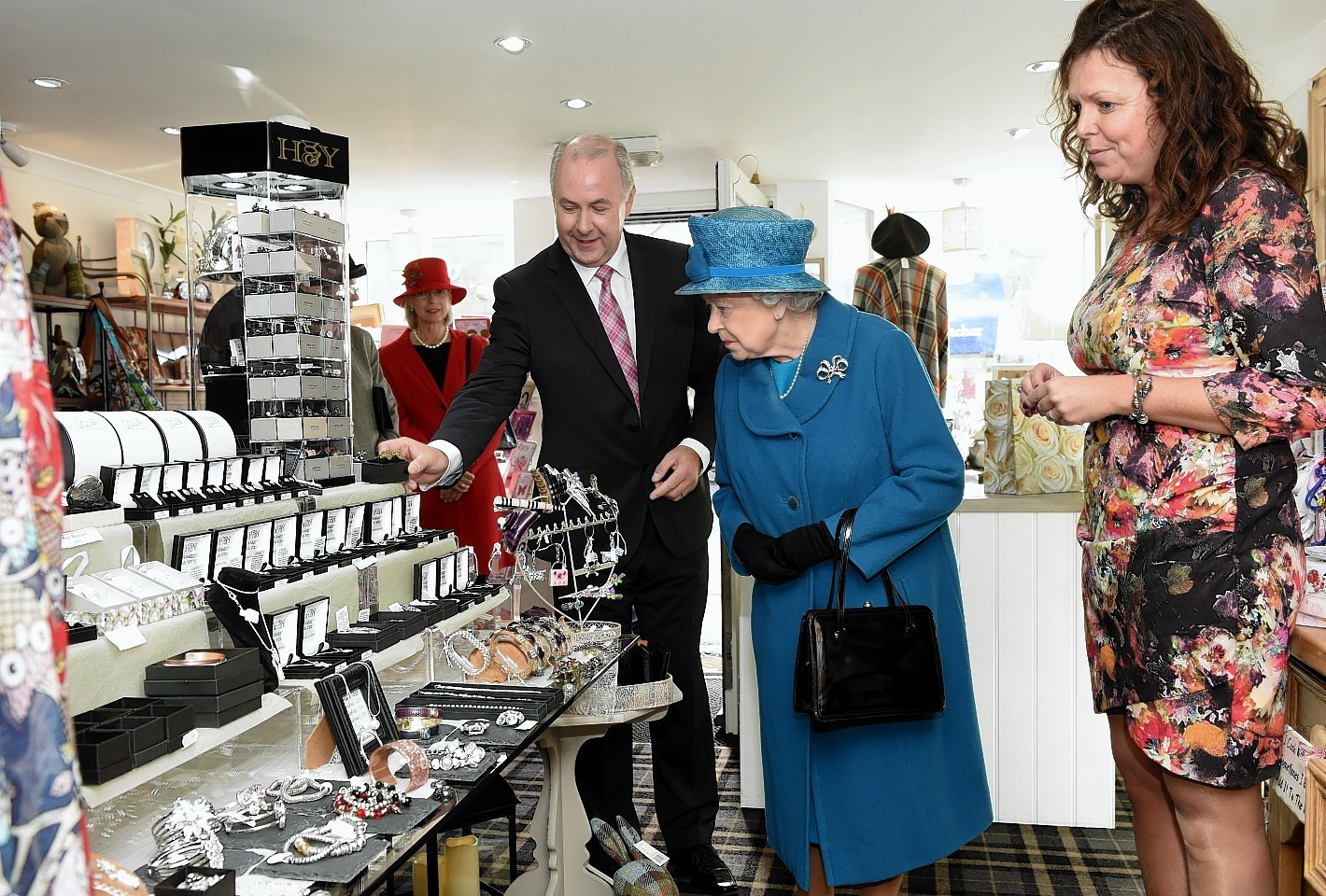 The Queen at the Brakeley Gift Room in Ballater. Credit: Kevin Emslie.
