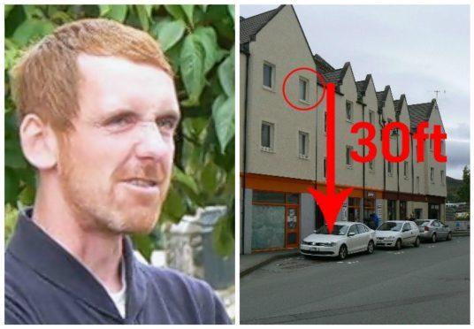 Alan MacKinnon jumped from a flat window