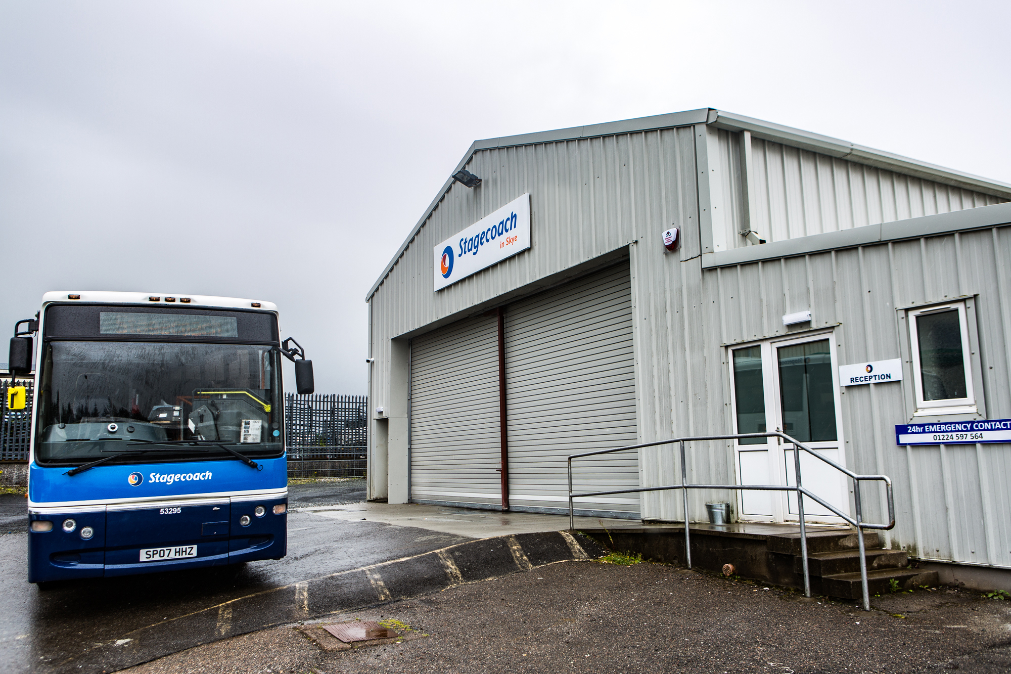 The new bus depot in Portree