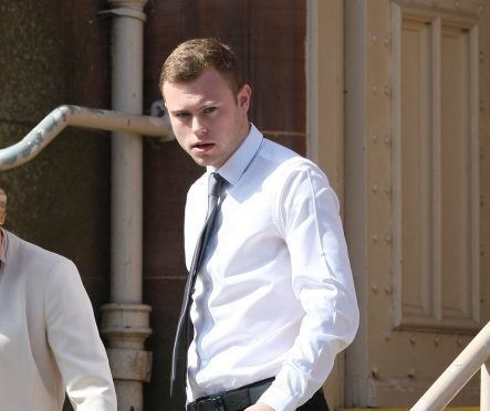 Stefan MacRitchie leaving Inverness Sheriff Court