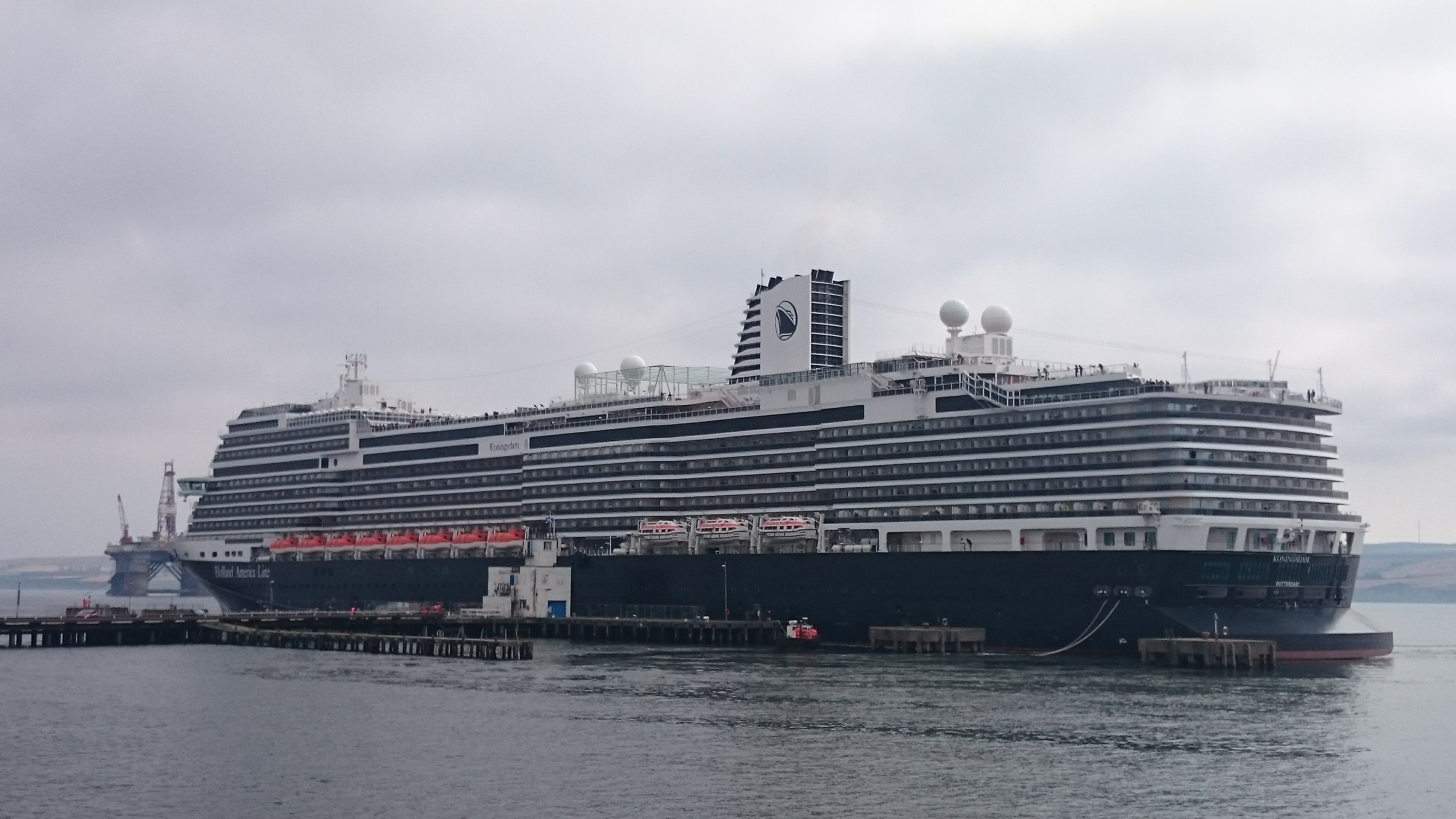 The Koningsdam is the 1,000th cruise liner to visit Invergordon.
