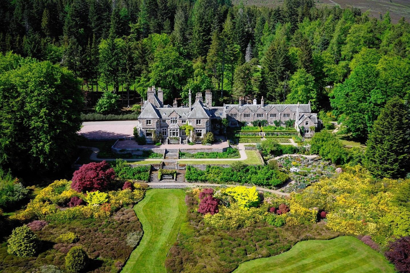 The Tillyponie estate  was on the market at offers over £10million