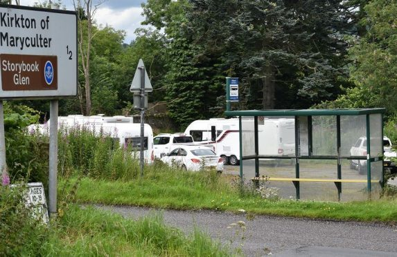 The travellers site at the Old MIll Inn