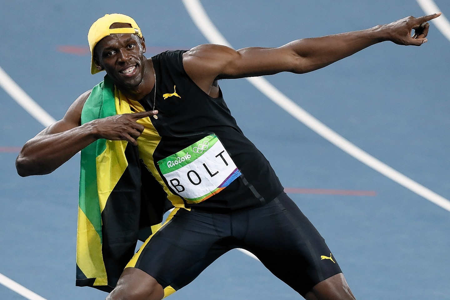 Unstoppable: Usain Bolt claimed his third gold in the 100m.