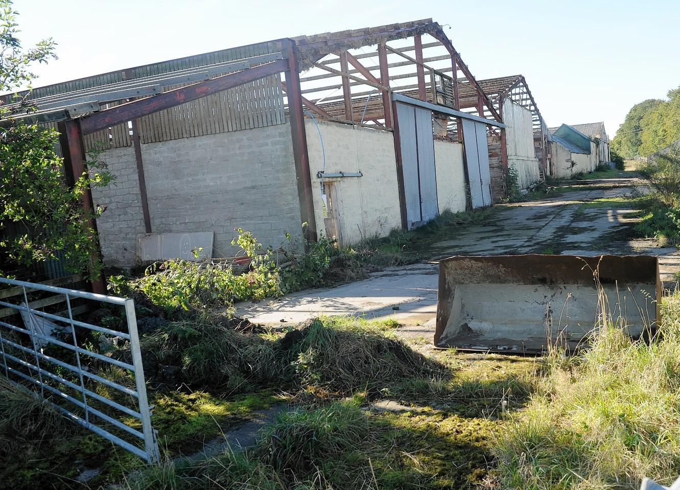 Viewhill, near Culloden Battlefield, where demolition work is underway.