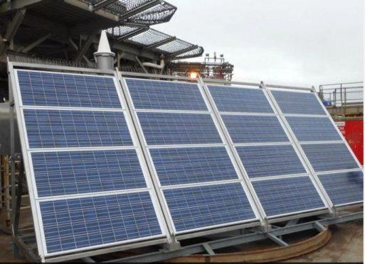 Pharos solar skid installed on the Brent Delta platform