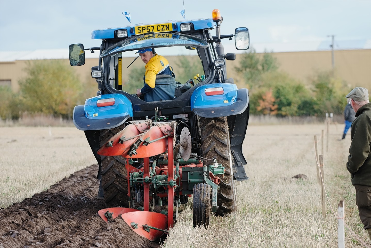 Laurencekirk ploughman Dave Carnegie in action at last year's championships