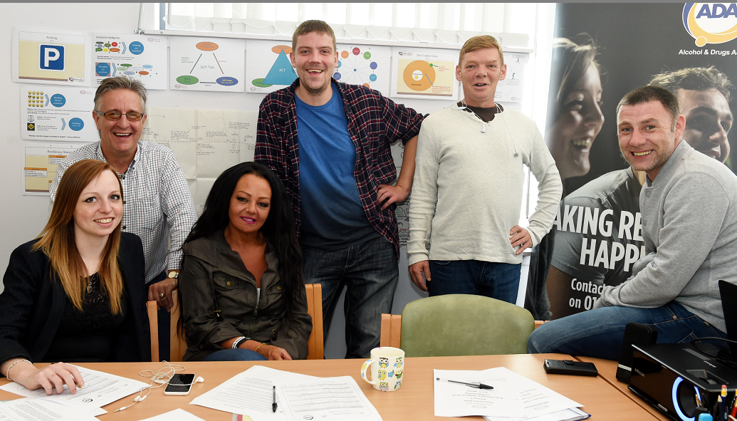 Alcohol and Drugs Action(ADA) service users and staff taking part in the DART scheme
