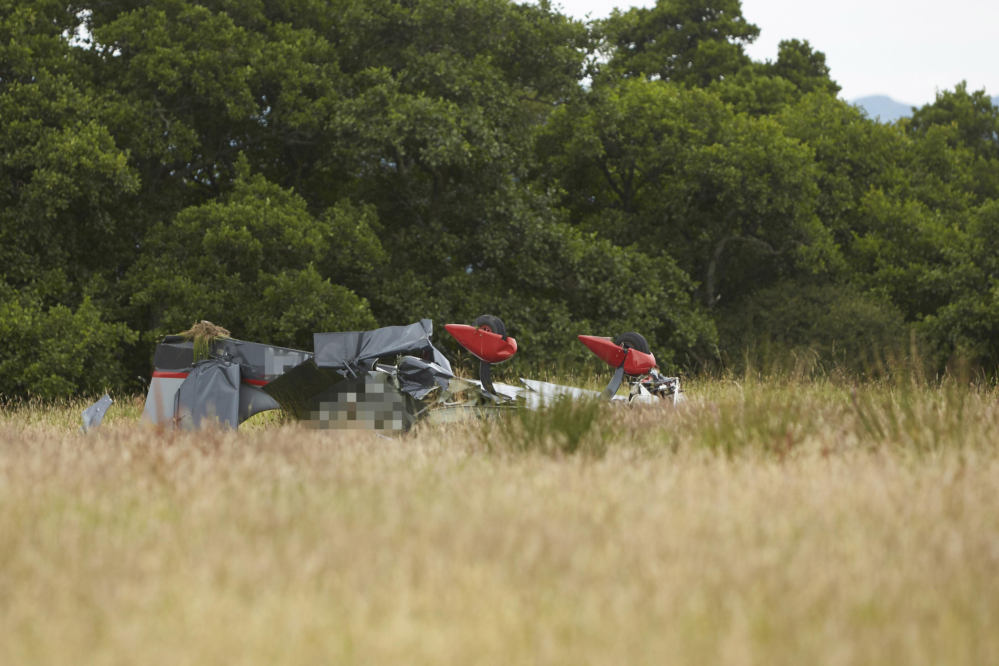 Crashed plane wreckage at Lochnell Estate in Argyll