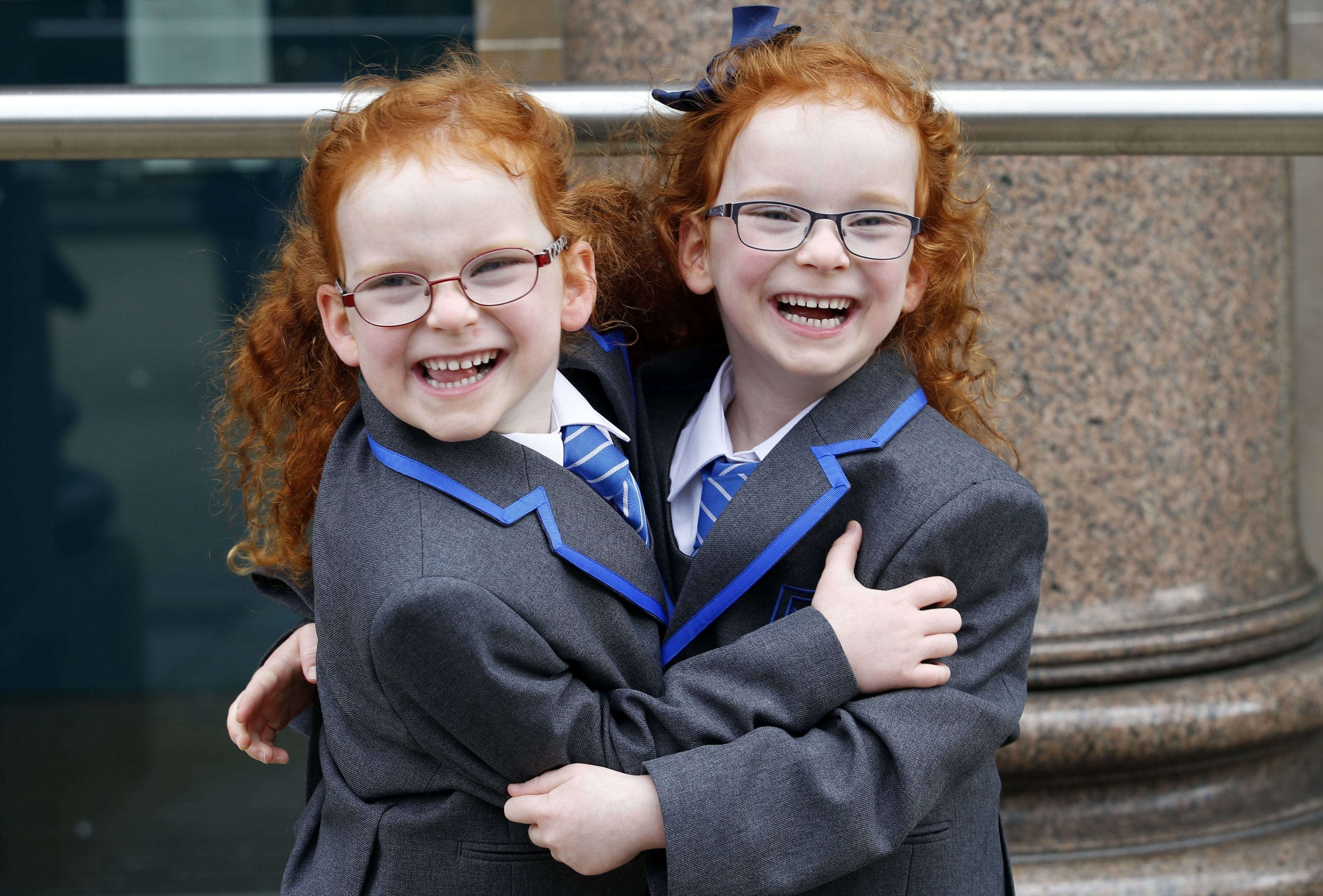 Caragh (right) and Sophie Doig (5),