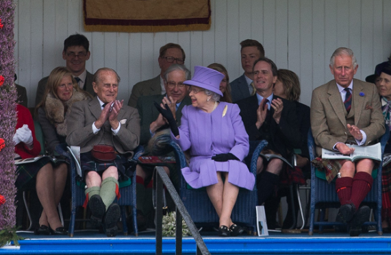 Prince Philip, Duke of Edinburgh, Her Majesty The Queen, Prince Charles, Duke of Rothesay and Her Royal Highness Princess Anne, The Princess Royal