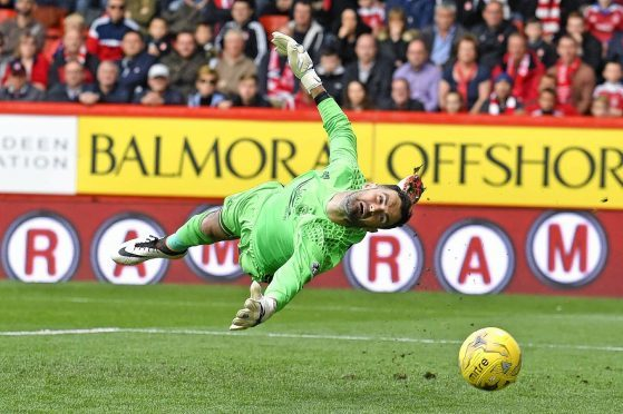 Aberdeen goalkeeper Joe Lewis' late save proved crucial