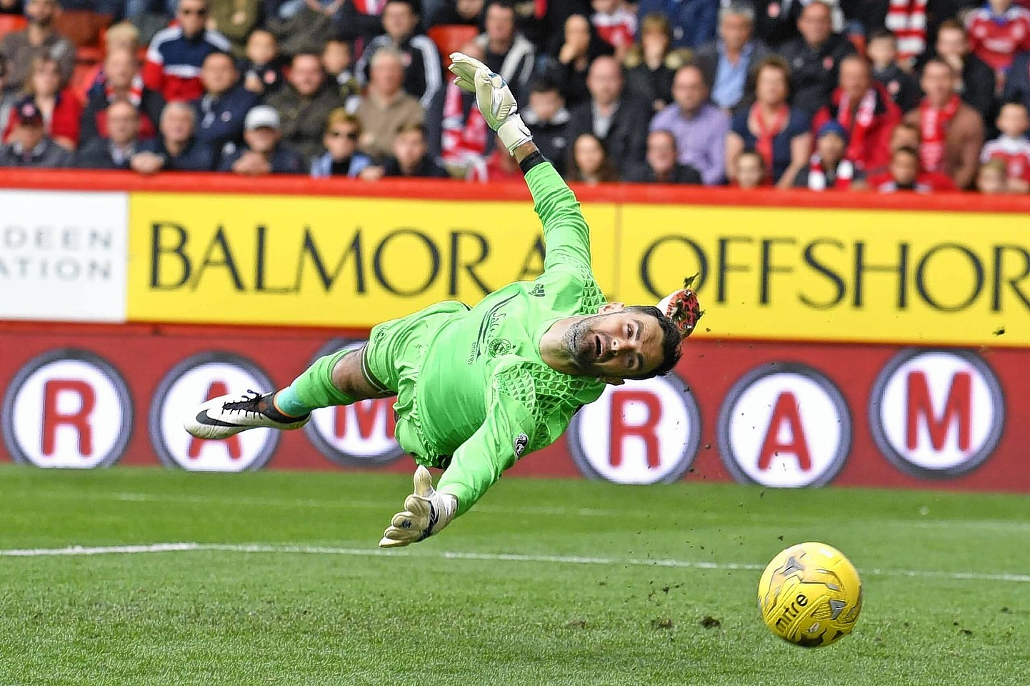 Aberdeen goalkeeper Joe Lewis' late save proved crucial