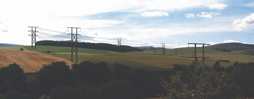 An artist impression of what the 78ft poles will look like at Milltown of Auchindoun.