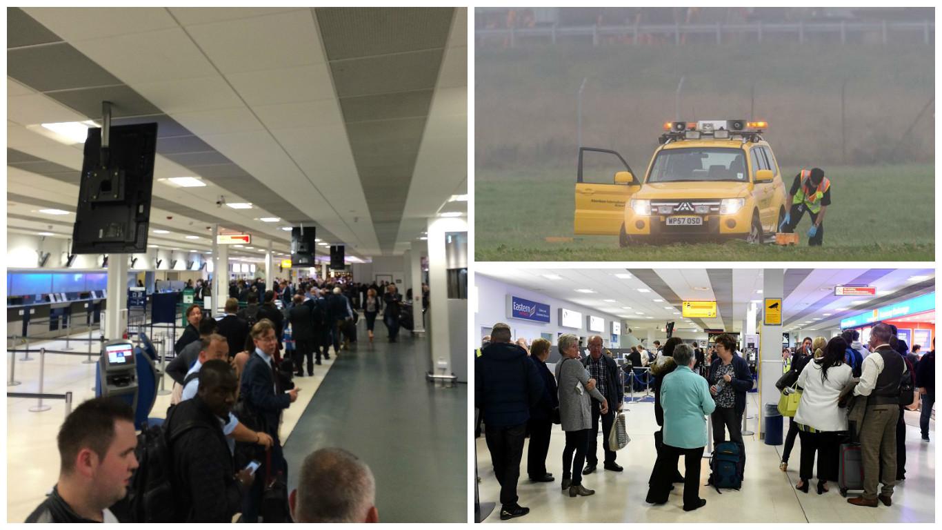 Aberdeen International Airport yesterday evening
