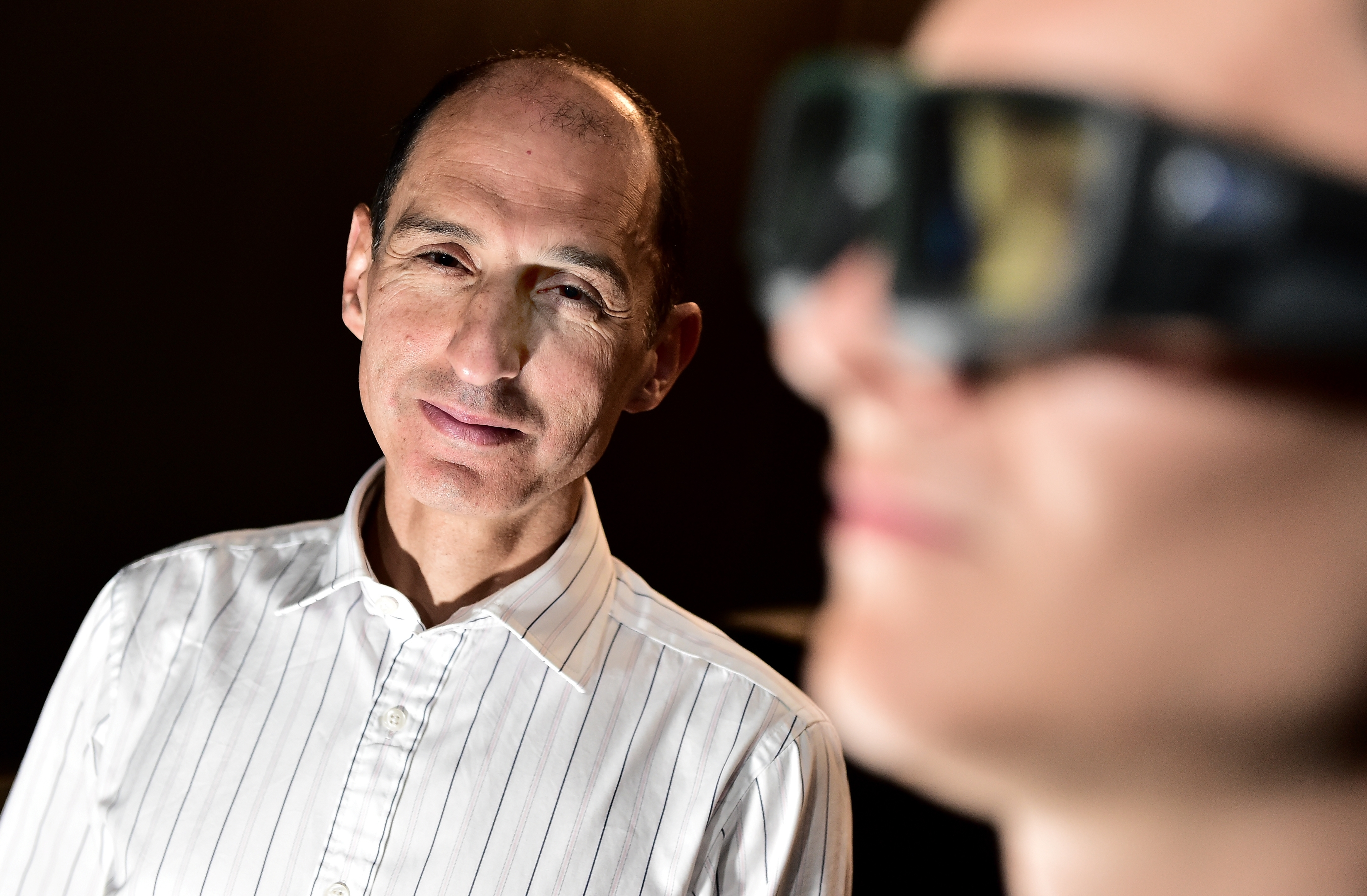 Professor Arash Sahraie  of the School of Psychology at the University of Aberdeen, who led the study into development of a new treatment for patients with blindness associated with brain injury, often caused by stroke.