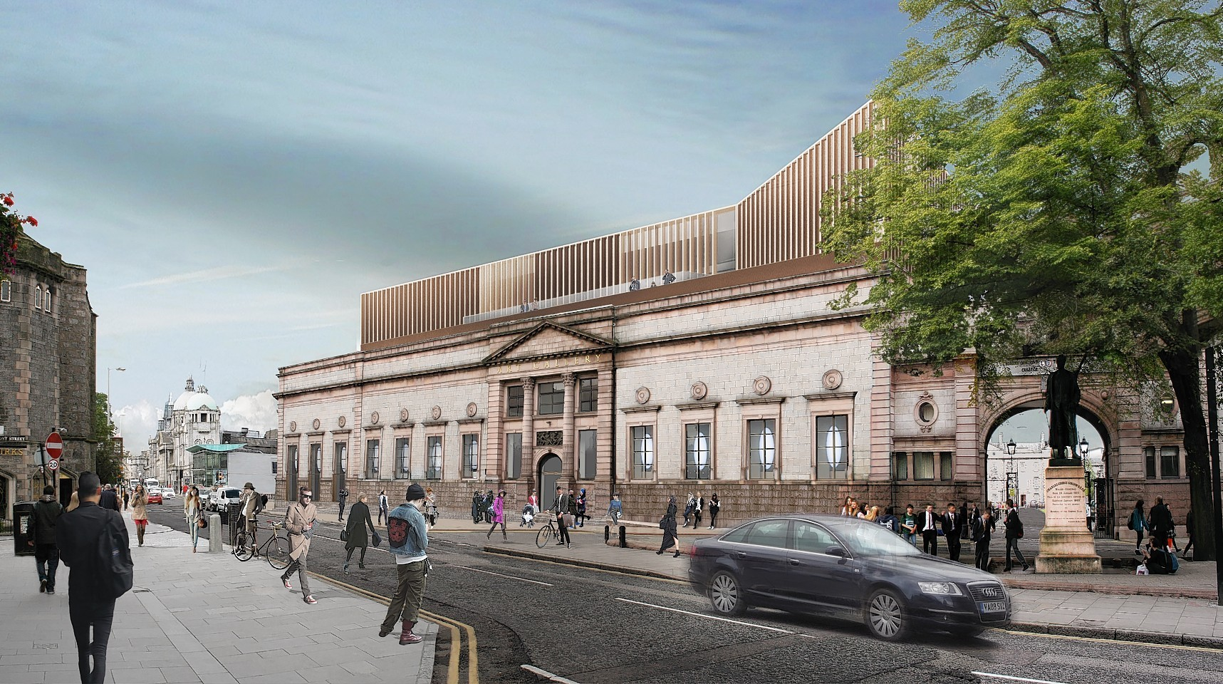 An artist's impression of the redeveloped Aberdeen Art Gallery.