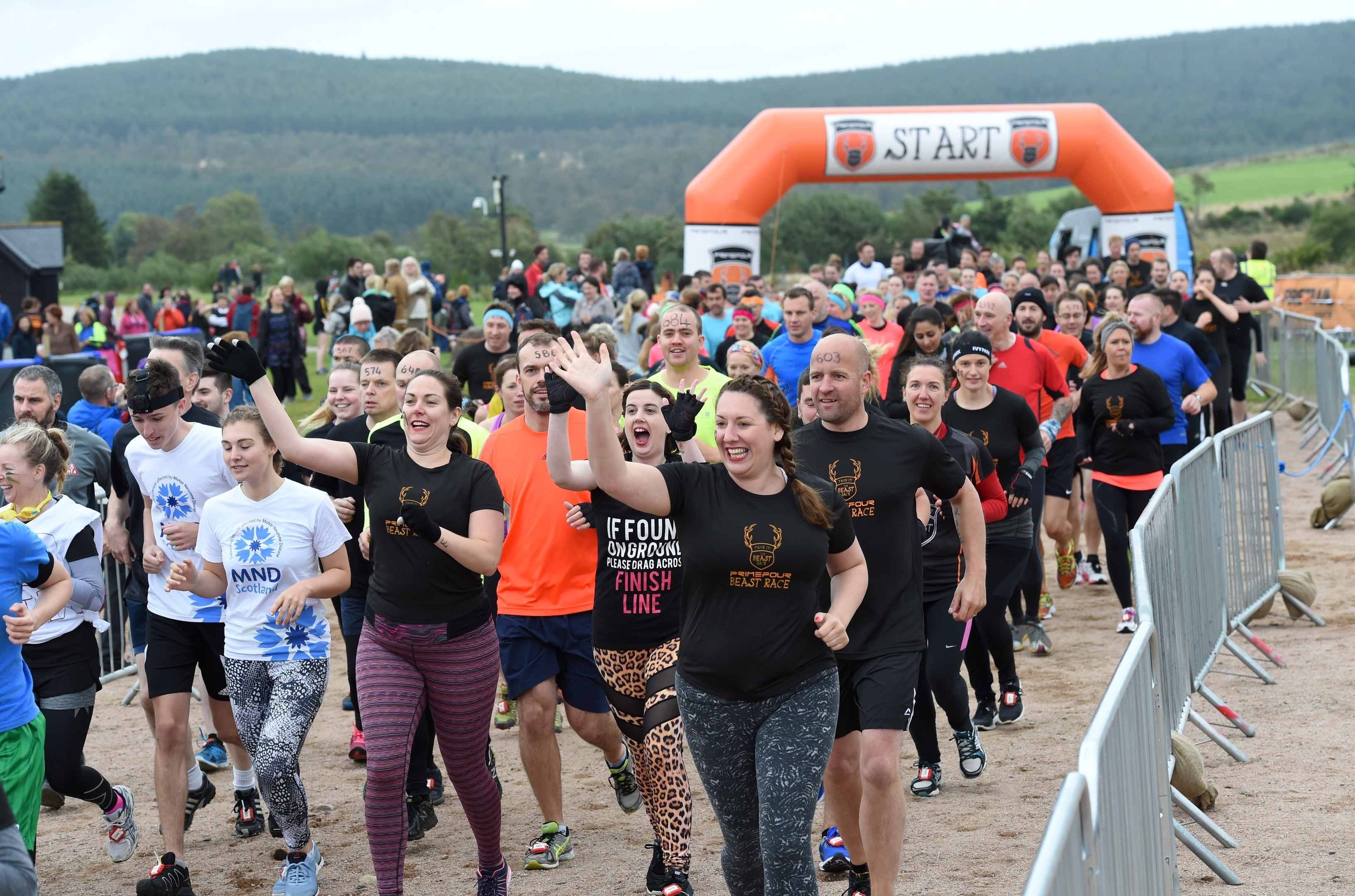 Banchory Beast Race at Knockburn Loch. Picture by KEVIN EMSLIE