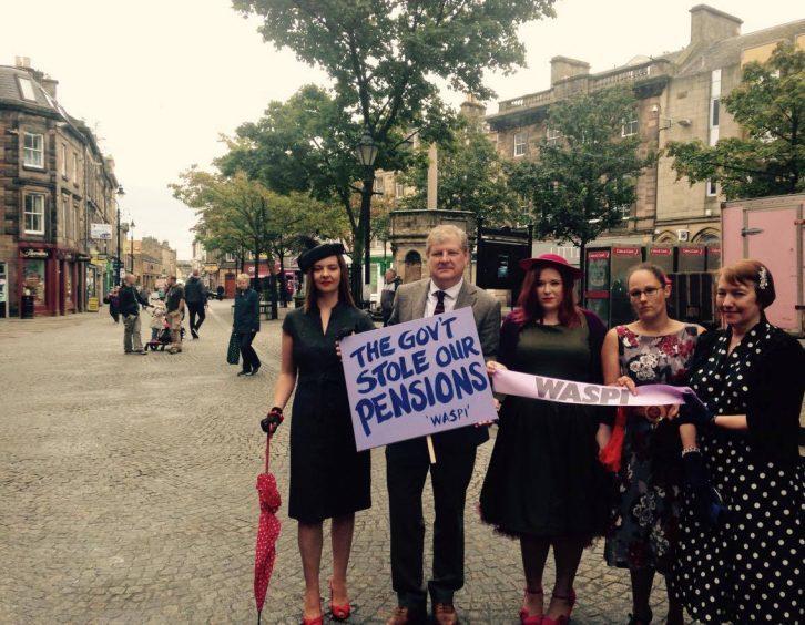 Vicky Jolly, Moray MP Angus Robertson, Abbey-Rose Kelly, Maria Ricketts and Rosella Smith