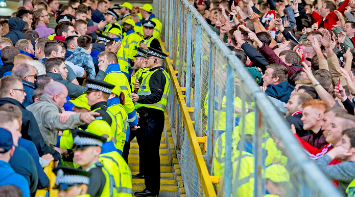 Rangers and Dons fans face off at Pittodrie