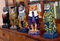 Kelly's Cat sculptures are to be auctioned for charity. Pics by Colin Rennie.