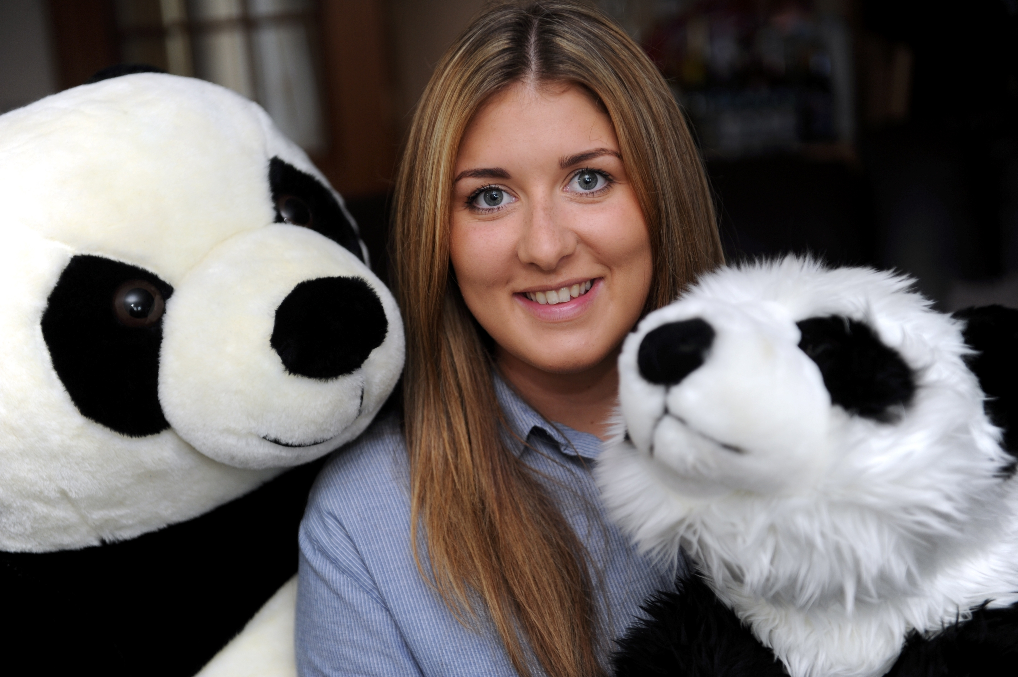 Chelsea Riddoch from Newmill, Keith, who is off to China to visit a Panda breeding sanctuary Picture by Gordon Lennox .