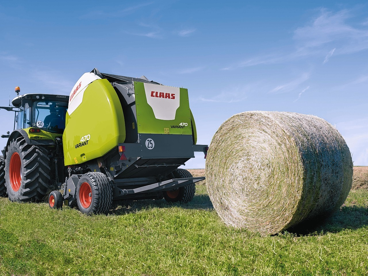 One of the new balers in action