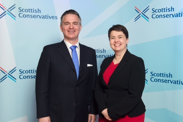 Tory candidate Colin Clark with Scottish Conservative leader Ruth Davidson.