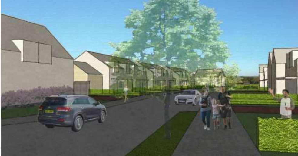 Early impressions of the new Cruden Bay housing scheme.