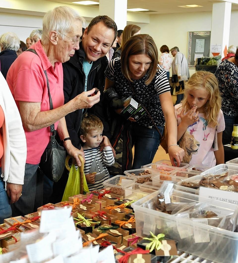 The Deeside Food festival at Cults academy, Aberdeen.
