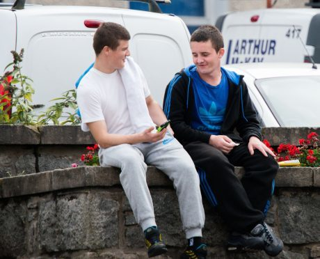 Dejan Watson (left) and Reece MacIsaac outside Fort William Sheriff Court