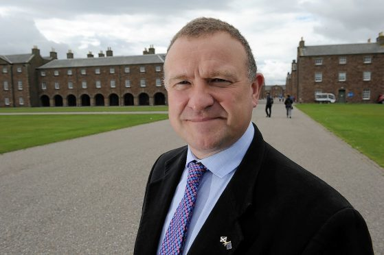 Drew Hendry MP at Fort George