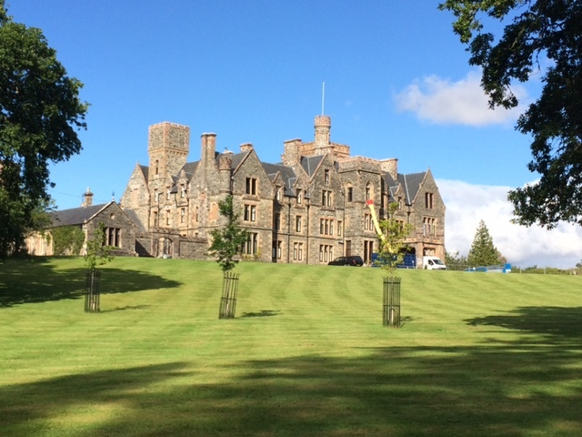 Duncraig Castle at Plockton in Wester Ross