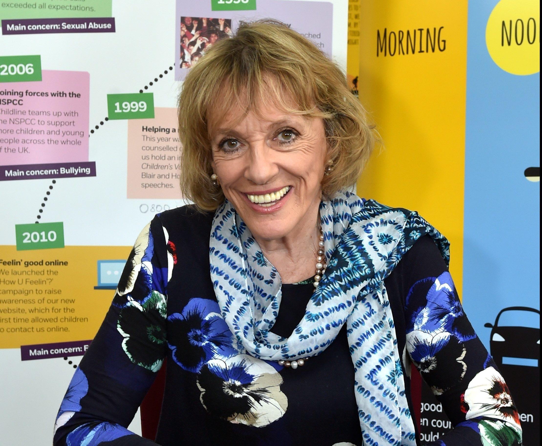Esther Rantzen visited Childline at Ruby House in Aberdeen.