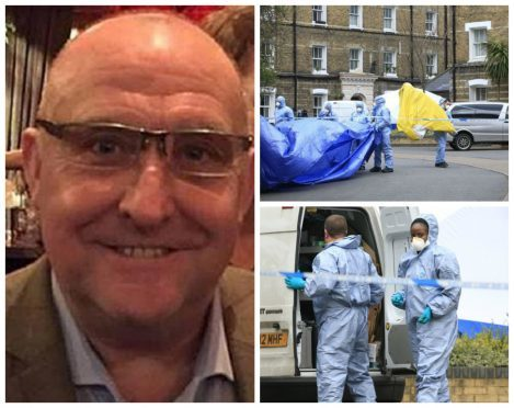 Constable Gordon Semple  was found dead at a London flat
