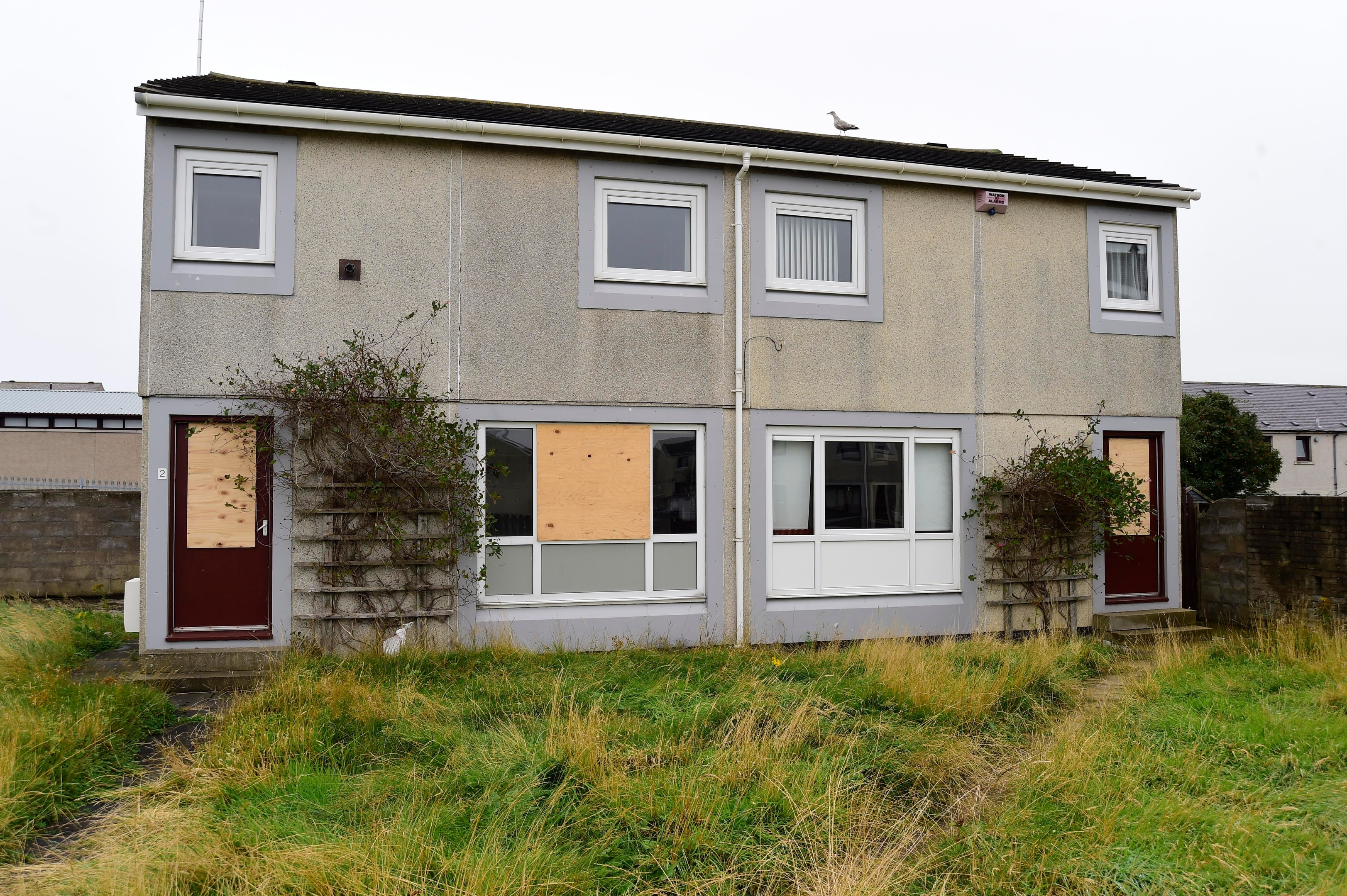 The former family home in Buchan Road, Fraserburgh
