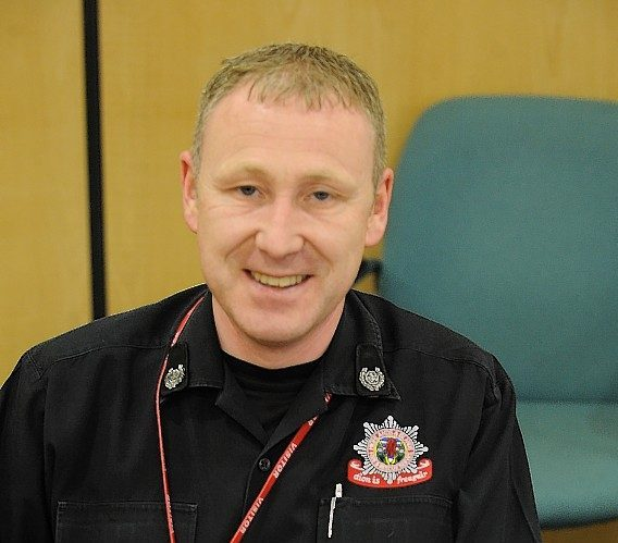 The Scottish Fire Service's Highland area manager John MacDonald.
