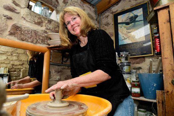 Lynn Pitt of Millshore Pottery